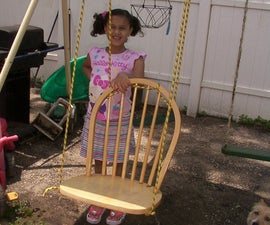Turn a Broken Dining Room Chair Into a Swing.