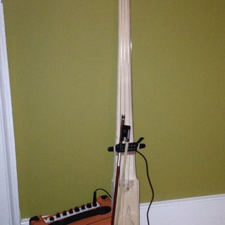 Pallet 2x4 Turned Into Electric Upright Bass