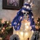 Victorian Skeleton Cryptmas Tree with Diorama Scene