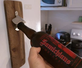 Pallet Wood Magnetic Bottle Opener