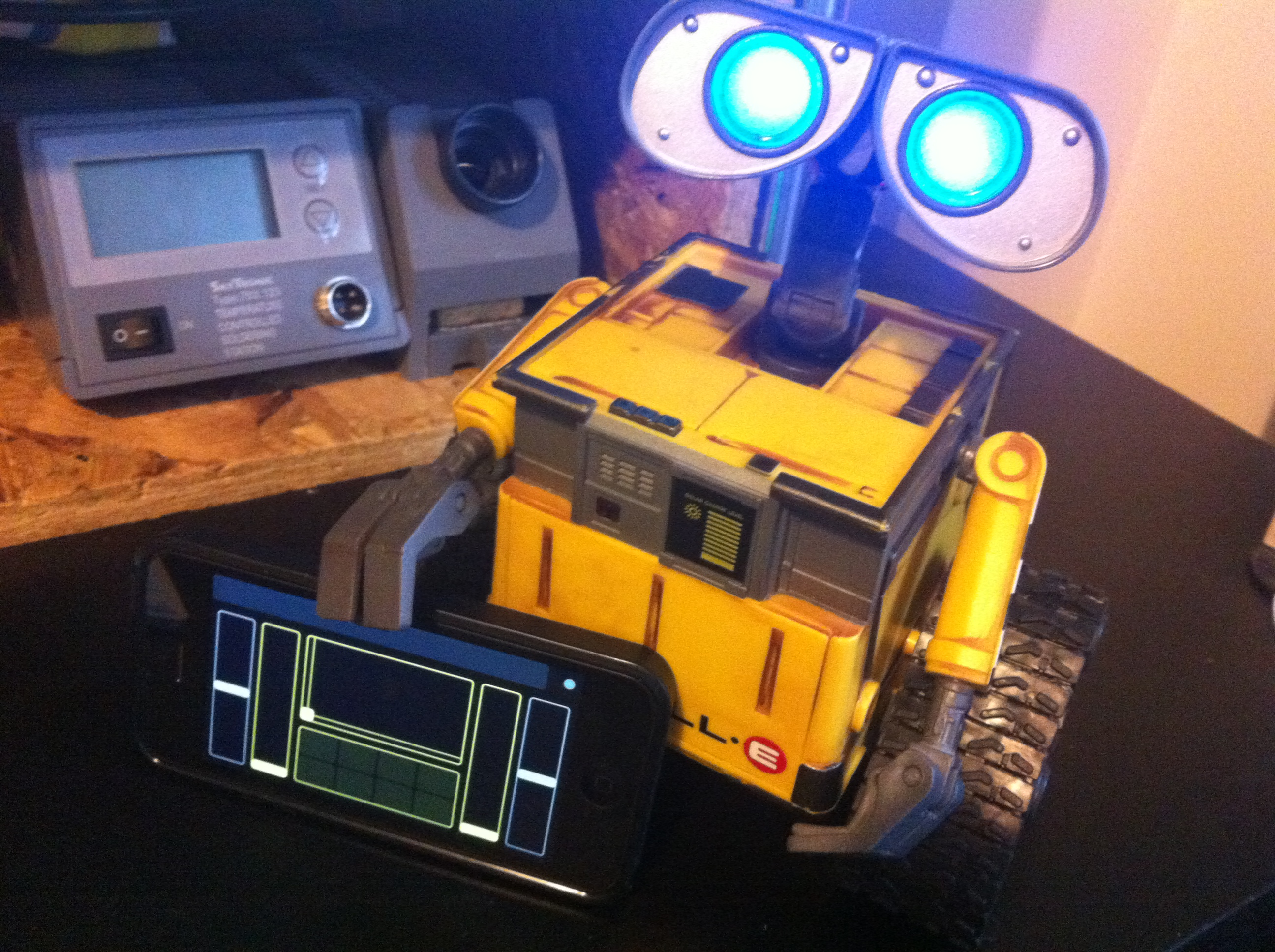 Picture of Spark-e - a Spark Core + Touch OSC Controlled Wall-e Toy Robot Conversion