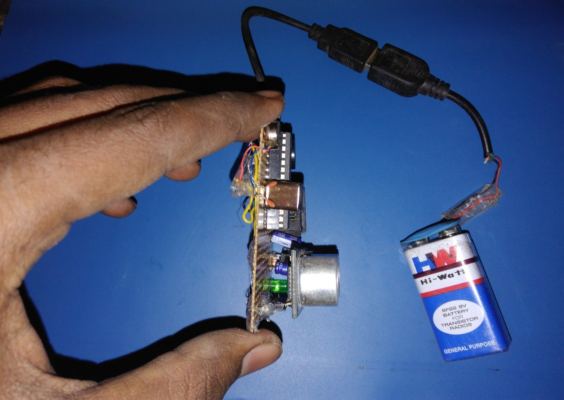 Picture of  Final Result :- Haptic Proximity Module-The HPM