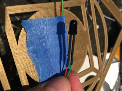 Add Wires to the IR Receiver Diode (the Black One) and Add Heatshrink to Stop Shorting. Don't Forget the Label!