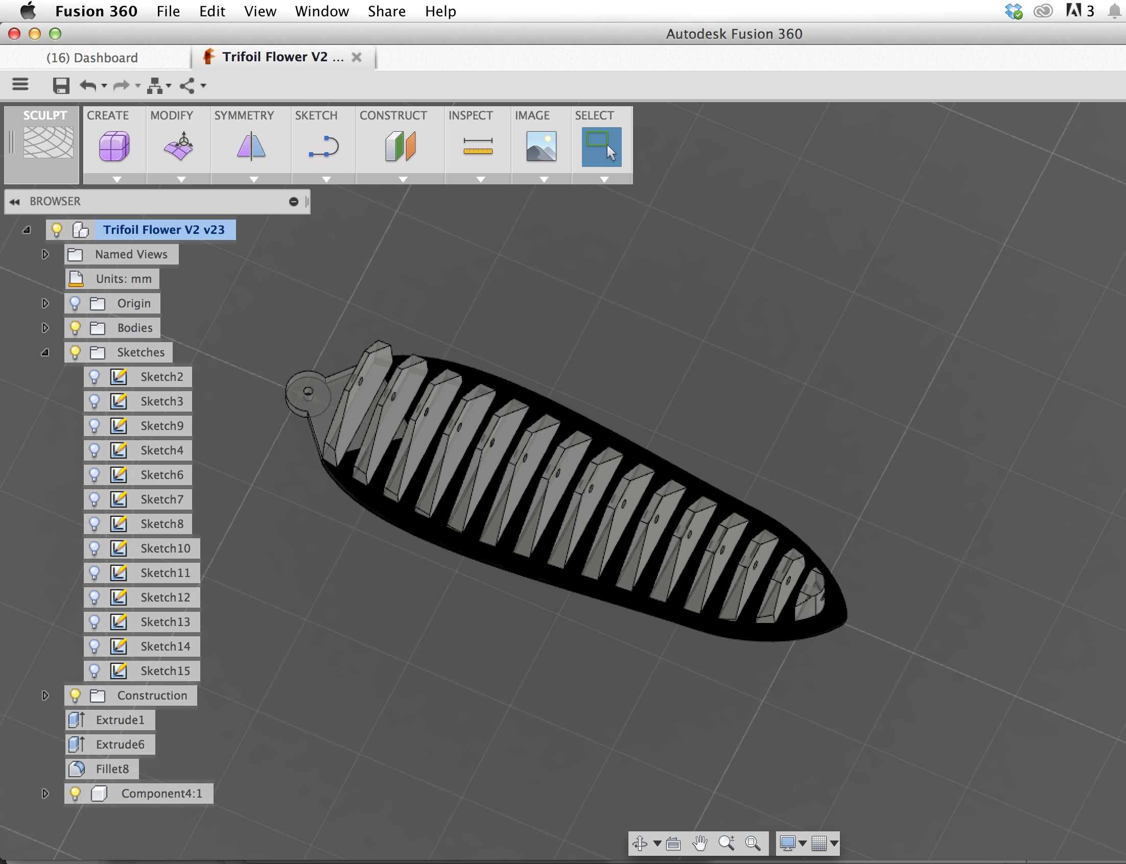 Picture of 3D Modeling the One Petaled Organism