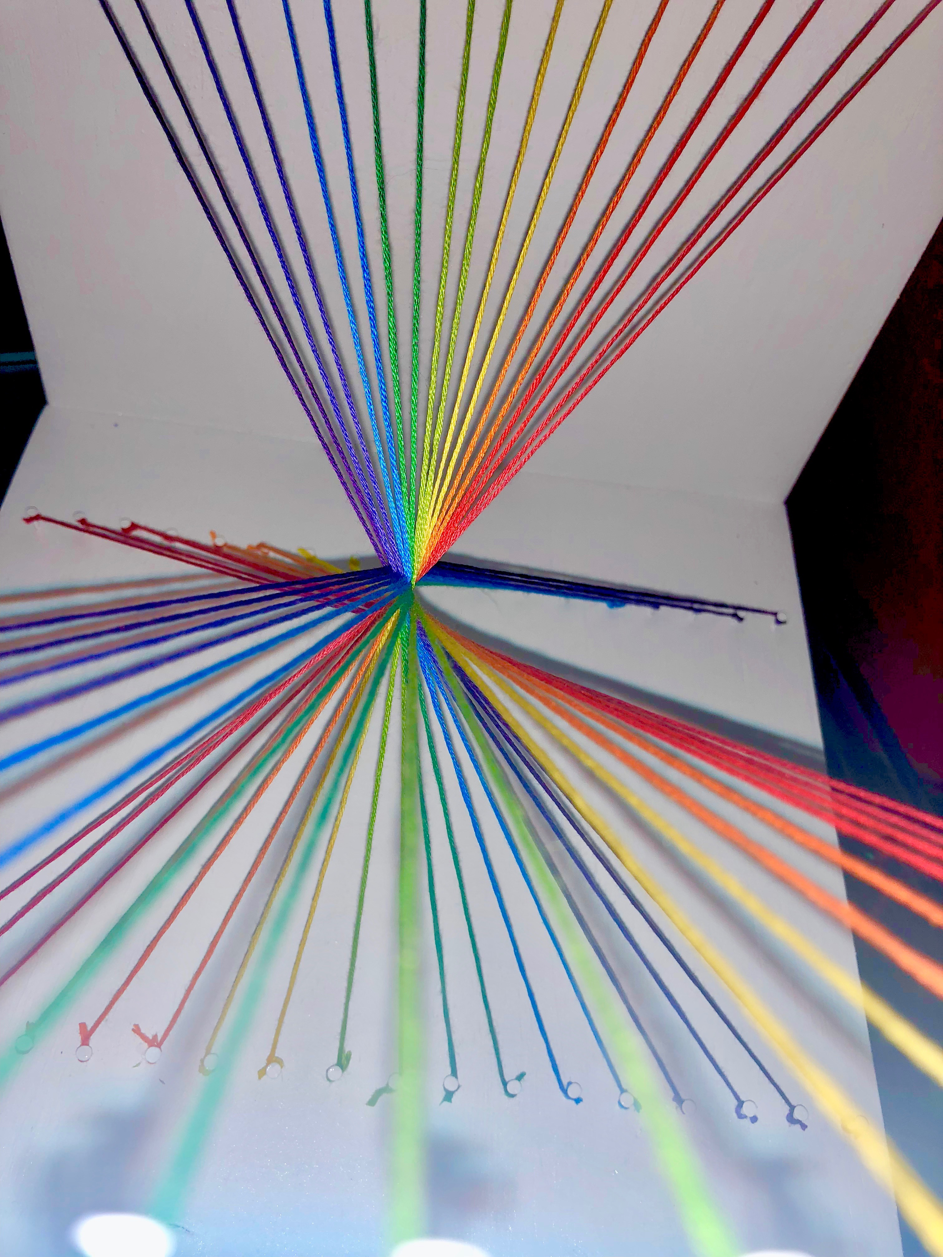 Picture of Rainbow String Art