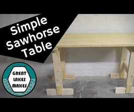 How to Make a Simple Sawhorse Table