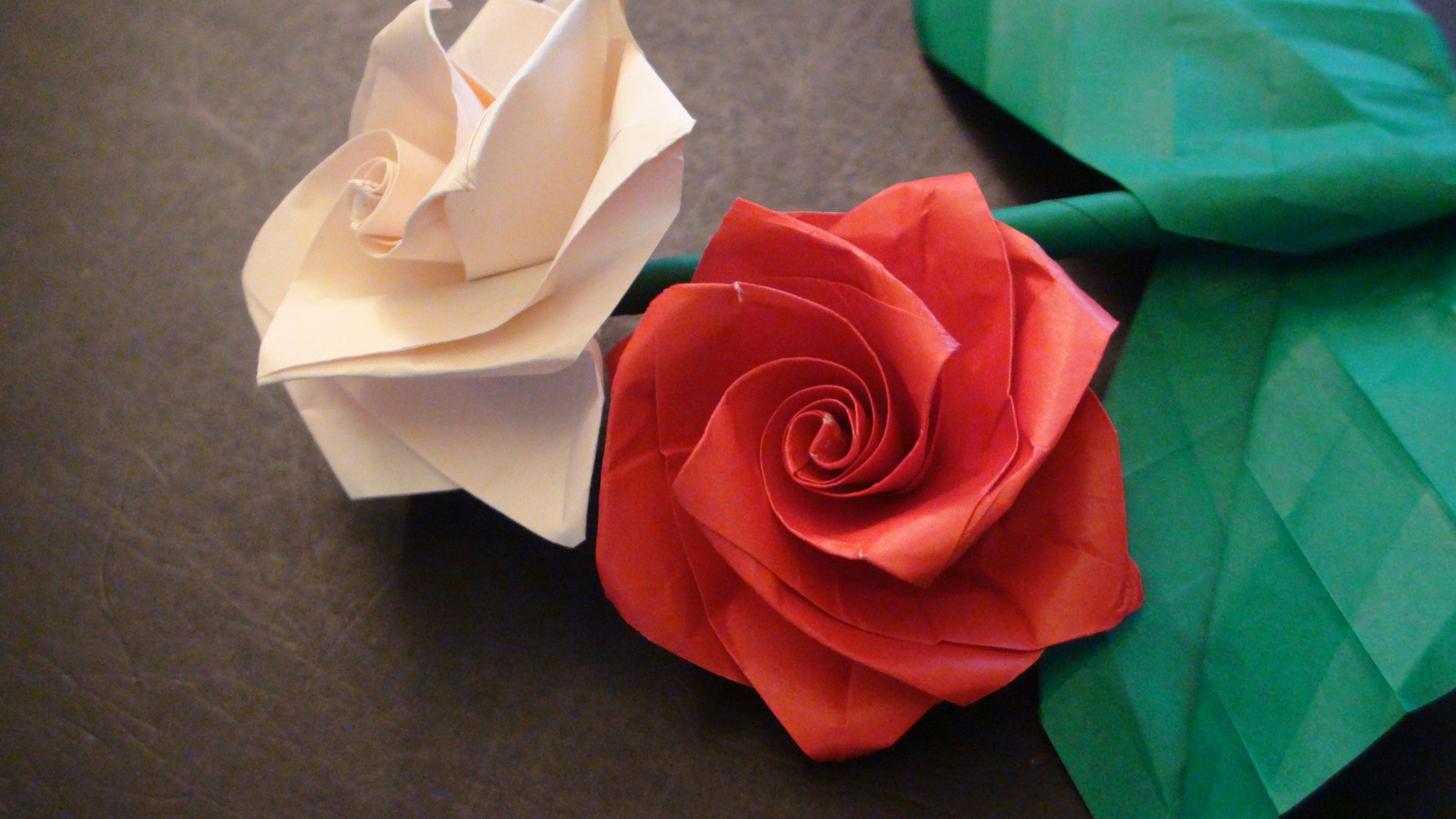 Origami Rose Easy - Origami Tutorial - YouTube | 2160x3840