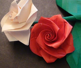 How to make a Beautiful Origami Rose (Bouquet) for Valentines Day!