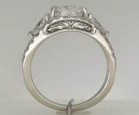Handmade Platinum engagement rings
