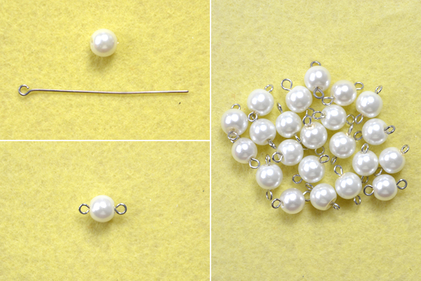 Picture of Make Bead Links for the Layered Pearl Necklace With Chain