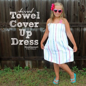 Shirred Towel Cover-up Dress!