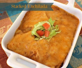 Stacked Enchilada For One