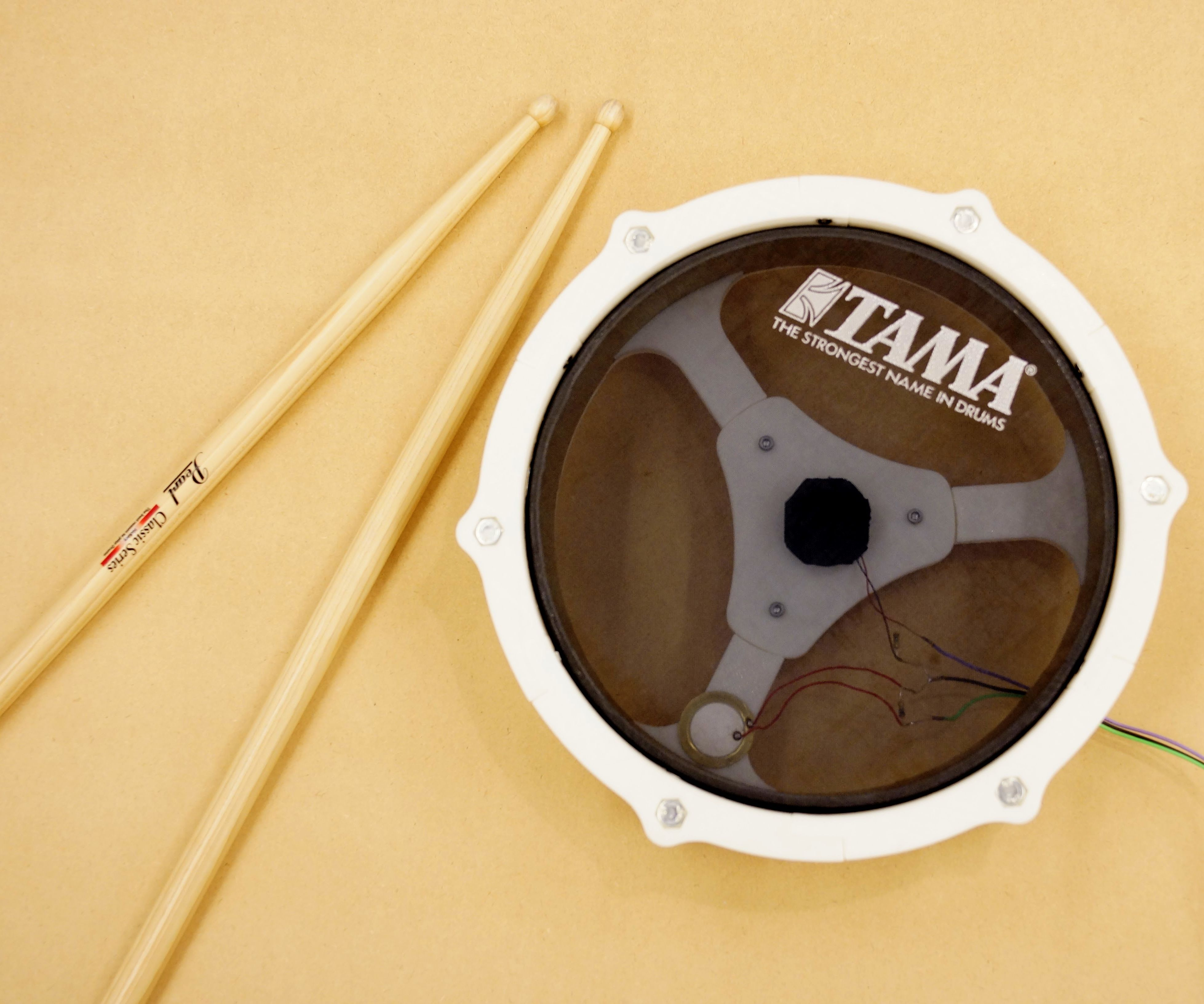 E-drum With Small 3D Printer and Thick Paper: 9 Steps (with