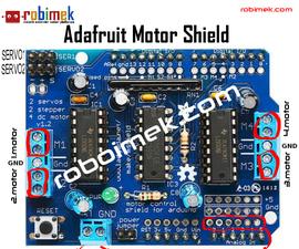 Adafruit Motor Shield Use
