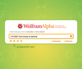 Binary and Hexadecimal Conversions in Wolfram Alpha