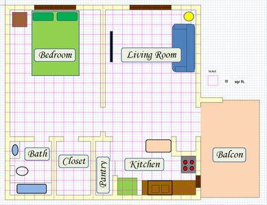 Create Floor Plan Using MS Excel