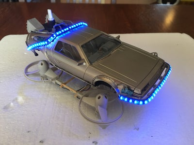 Real Flying Back to the Future Delorean