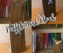 Pallet Desk Clock