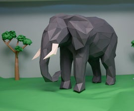 Low-Poly Paper Sculptures