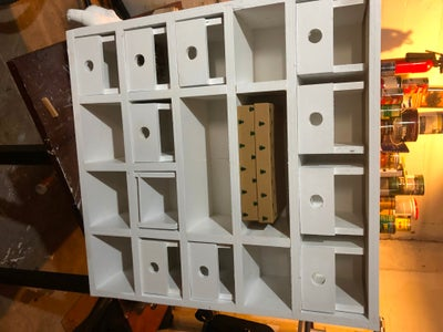 Small Parts Organizer Made of Wood