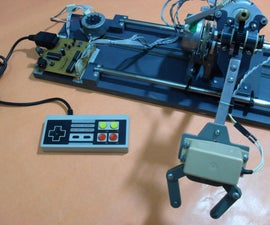 Robotic arm controlled by NES gamepad