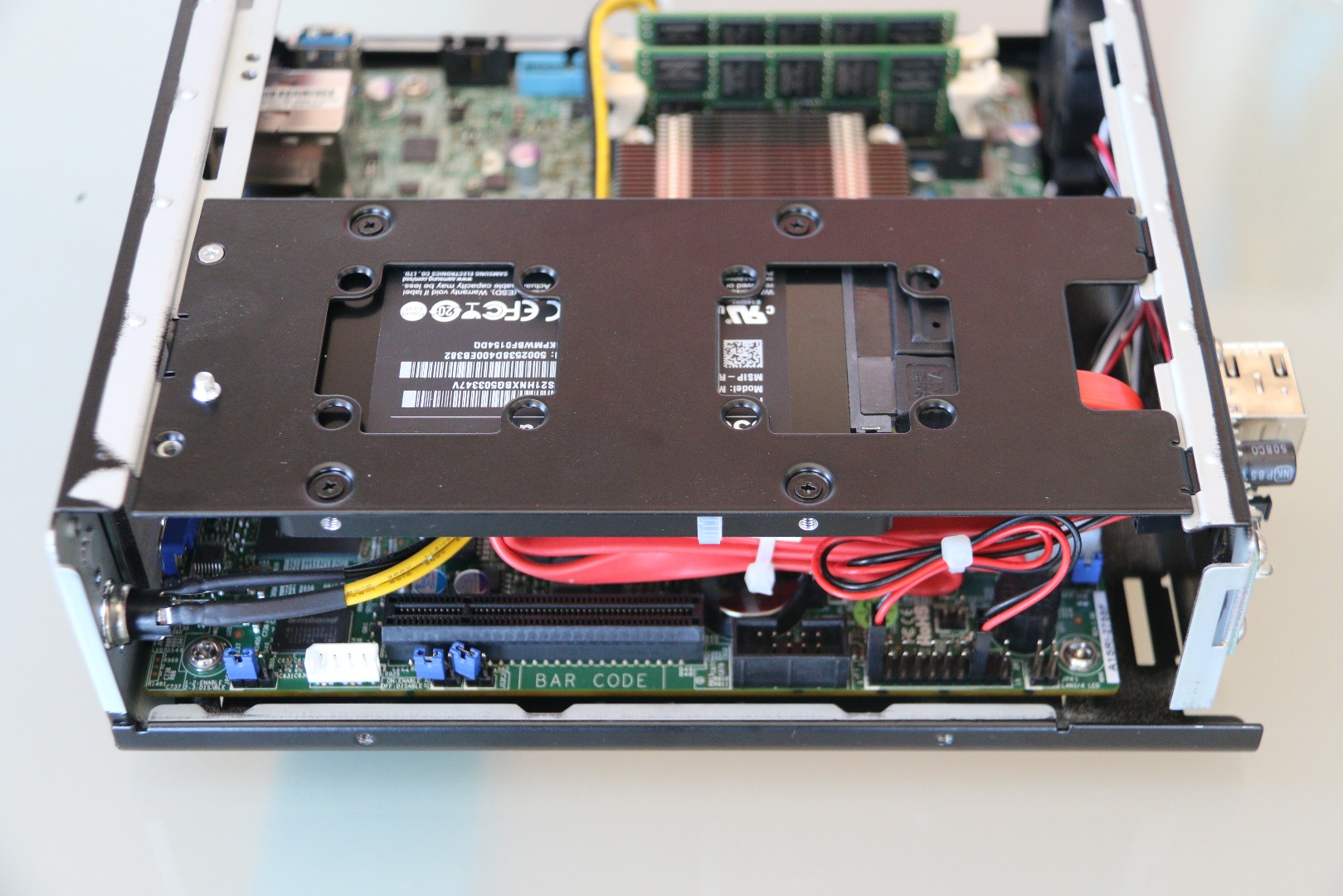 Picture of Install the SSD Bracket