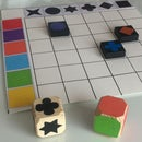 Two Entries Lotto With Qwirkle Pawns for Toddlers