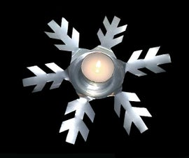 Easy Snowflake Candle Holder (from a soda can)