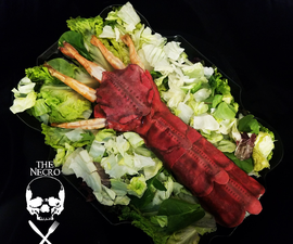 Edible Beetlejuice Shrimp Arm From the Musical Number Dinner Party Scene