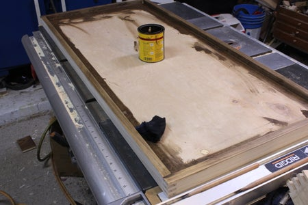 Sand and Stain the Top Edging