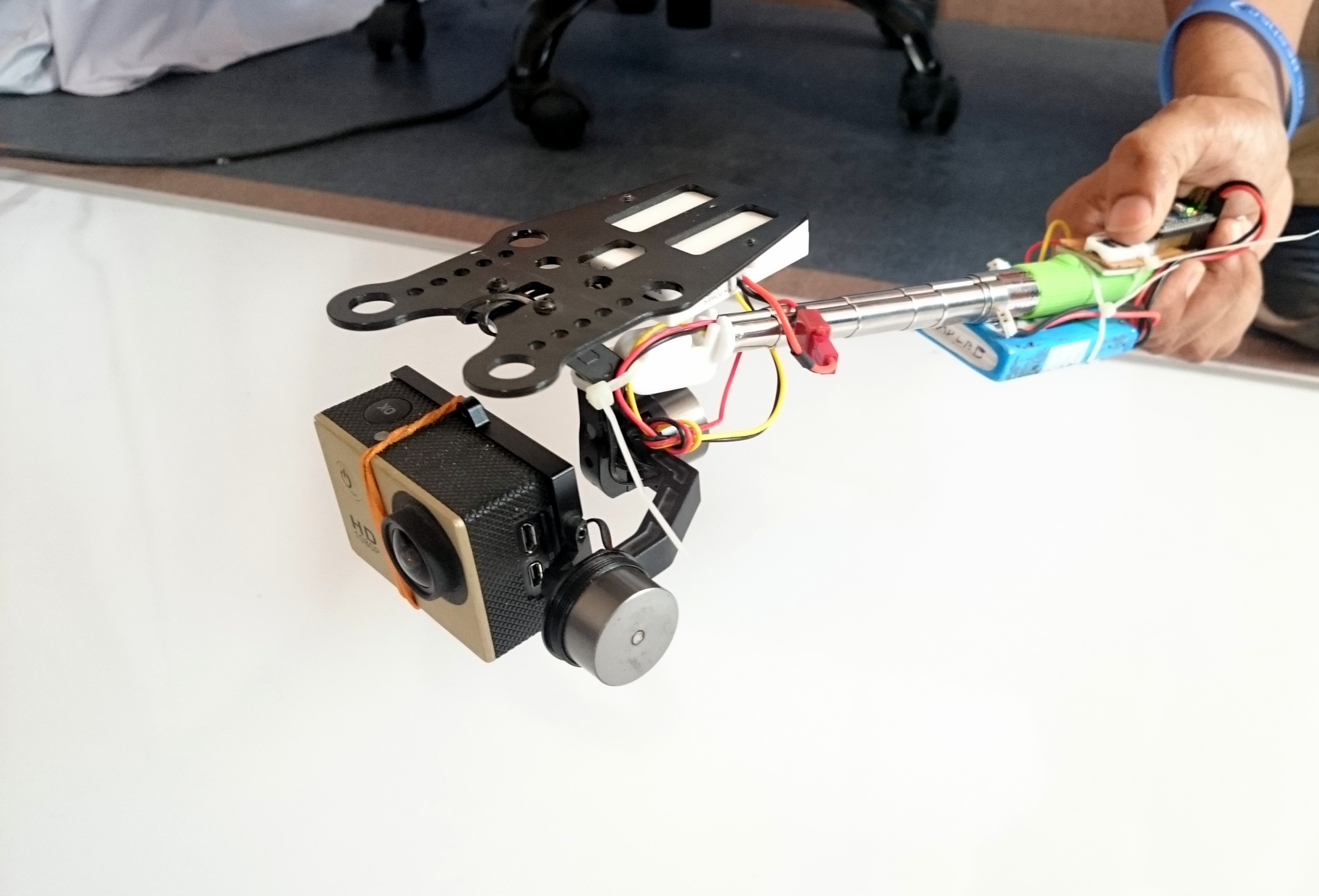 Picture of Extendable Handheld Gimbal for GoPro/SJ4000/Xiaomi Yi/iLook