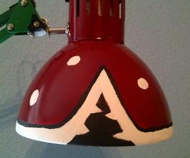 Super Mario Piranha Plant Lamp from $10 IKEA Lamp