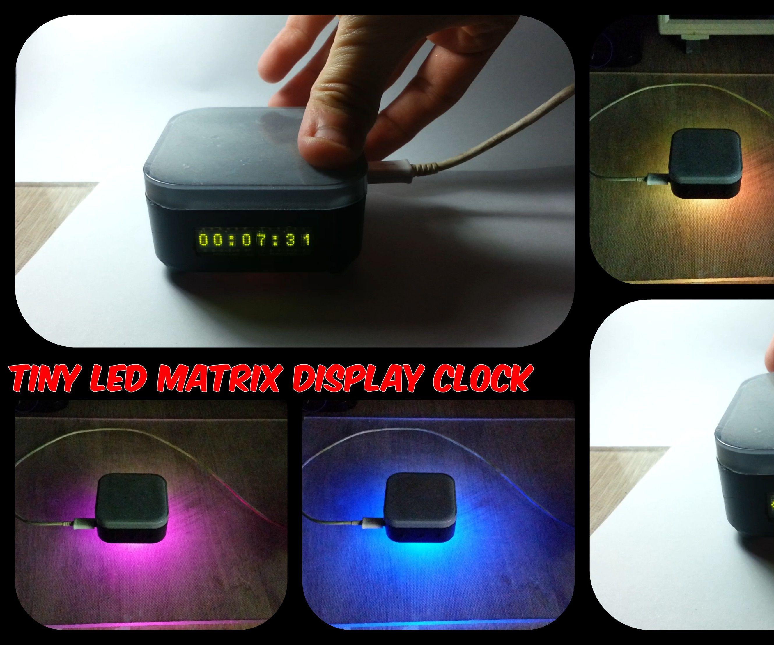 Tiny LED Matrix Display Clock: 8 Steps
