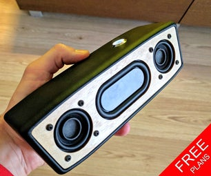 Portable Bluetooth Speaker (FREE PLANS)
