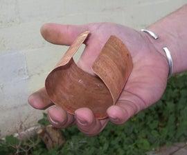 copper cuff bracelet from copper tube