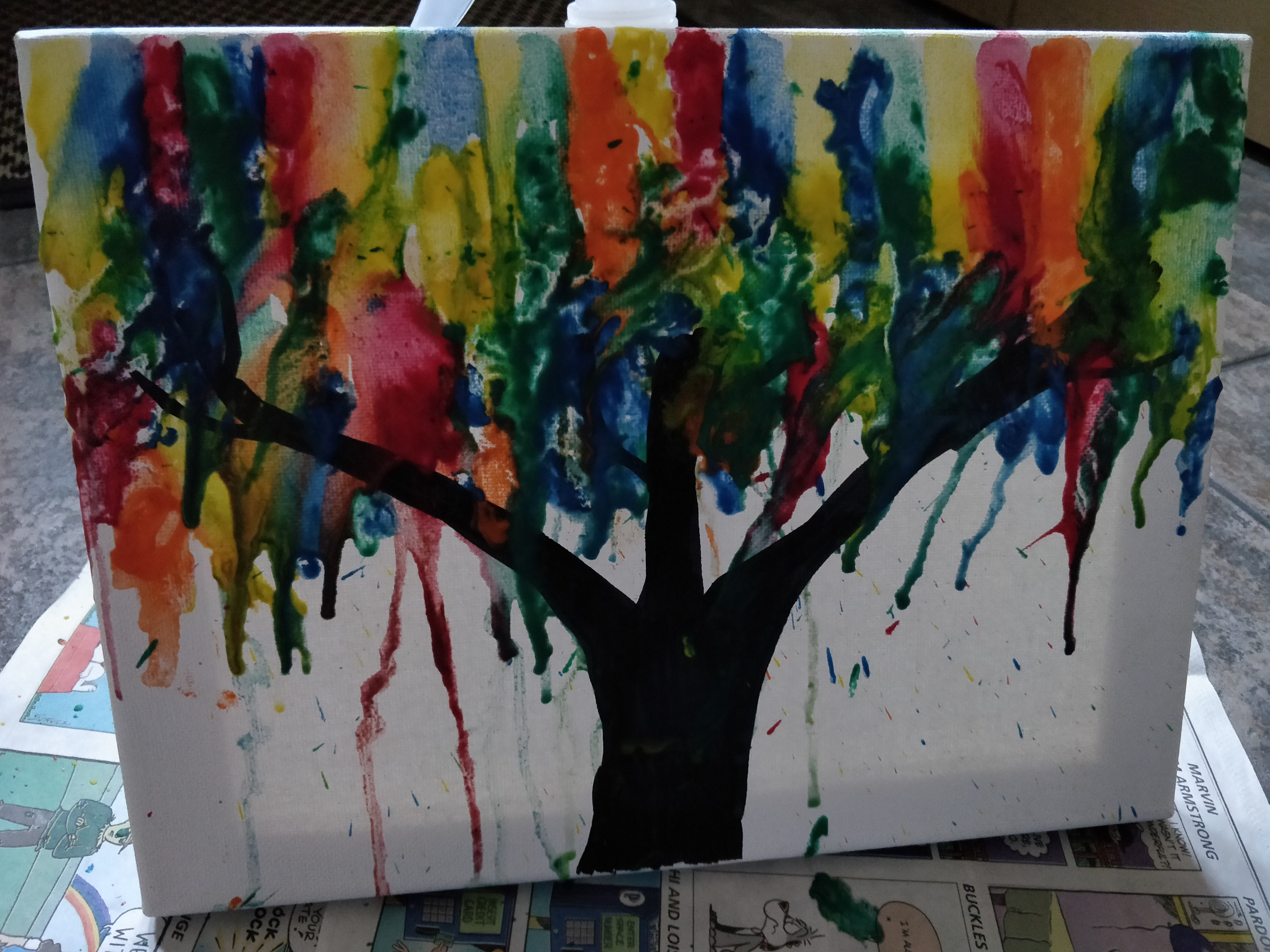 Picture of Melted Crayon Tree