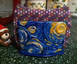 Starry Night Polymer Clay Dish Sponge Holder