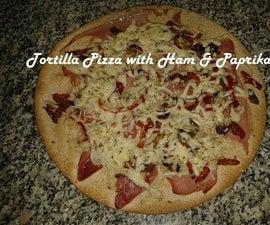 Tortilla Pizza With Ham & Paprika Recipe