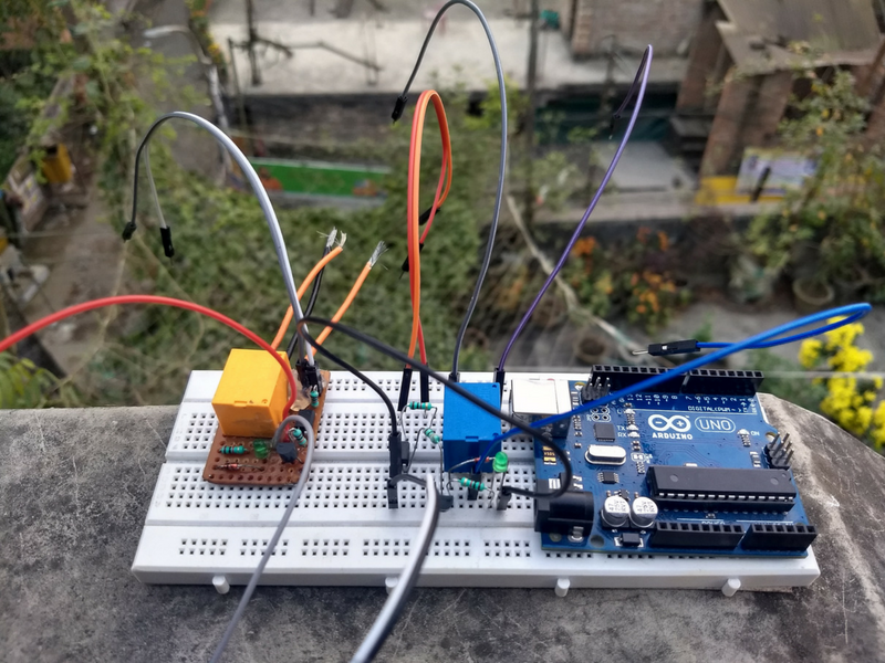Picture of Single Module Connection With Arduino.