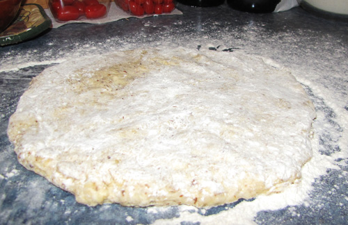 Picture of Stretching the Dough