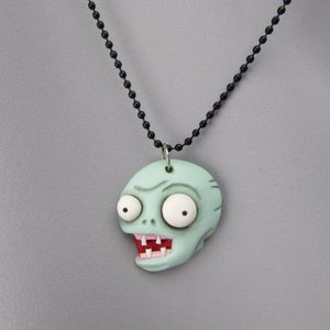 Zombie Polymer Clay Necklace