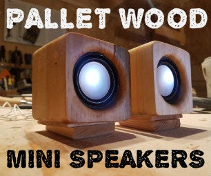 Pallet Wood Mini Speakers