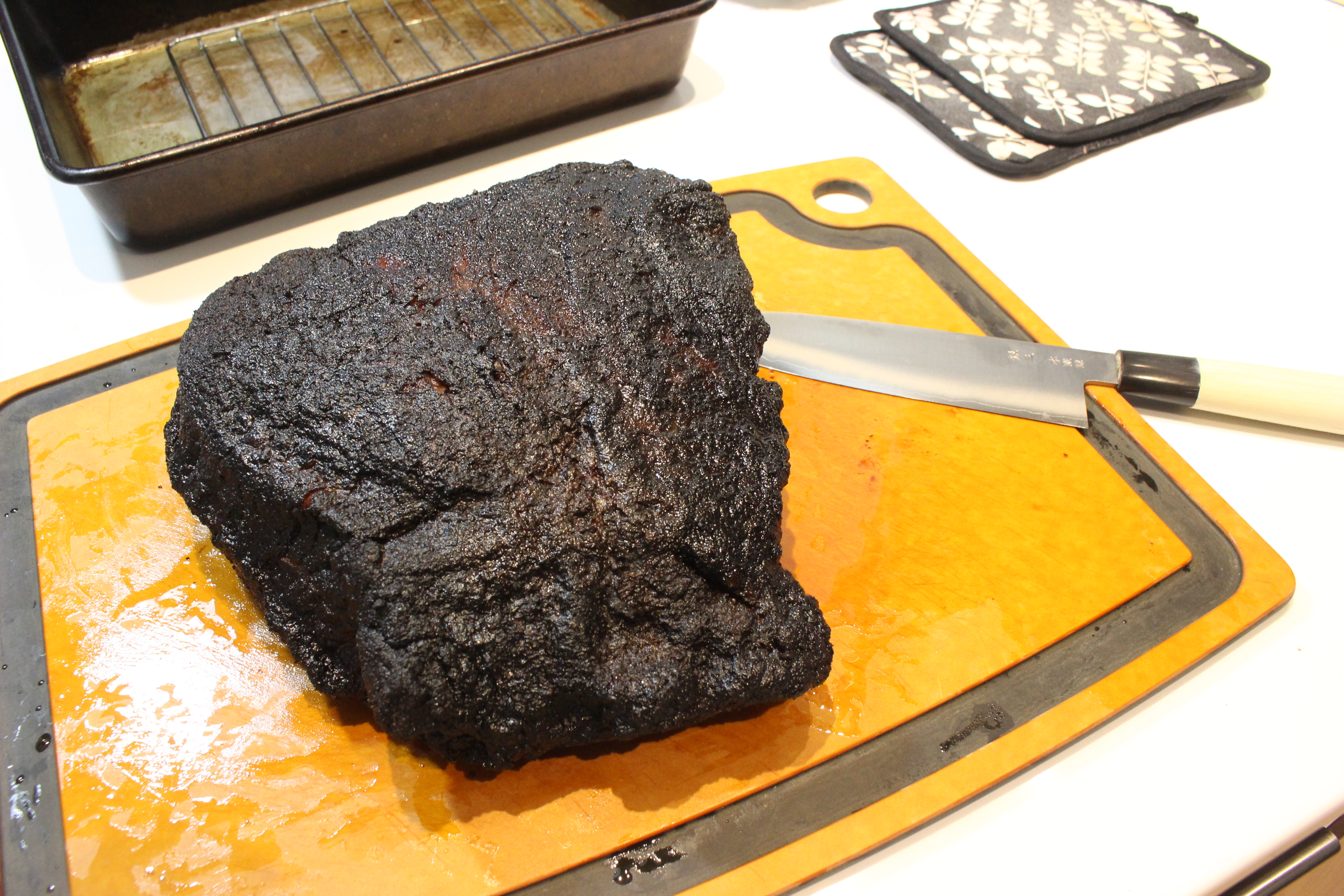 Picture of Cutting the Brisket