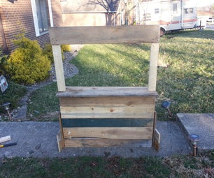 Portable Old Fashioned Roadside Stand - Girl Scout Cookies / Lemonade / Kissing