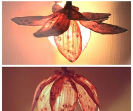Vintage Fabric Lamp