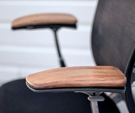 Replace Worn Arm Rests on a Secondhand Chair (Knoll Formway Life Chair) // Furniture Upcycle