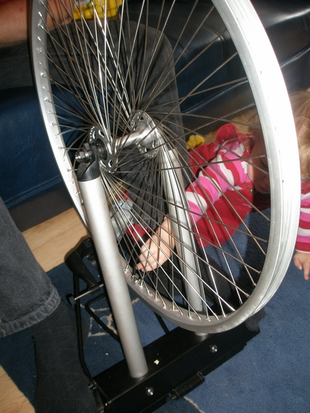 Picture of Truing the Wheel Step 1 ( Bring the Spokes Up to First Tension )