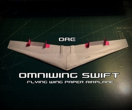 How To Make The Omniwing Swift Paper Airplane