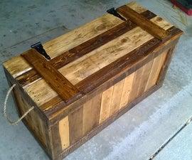 False Bottom Trunk From Reclaimed Wood (Pallets)