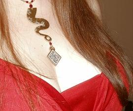 Steampunk QR Code Necklace